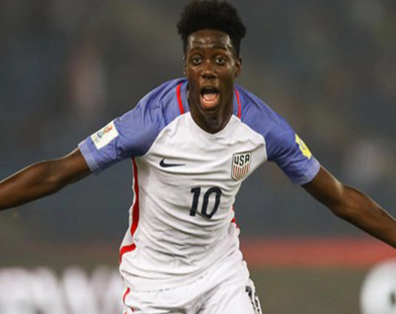 George Weah's son scores hat trick for the US in Under-17 World Cup