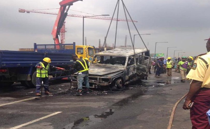 Governor Fayose's G-wagon goes up in flames