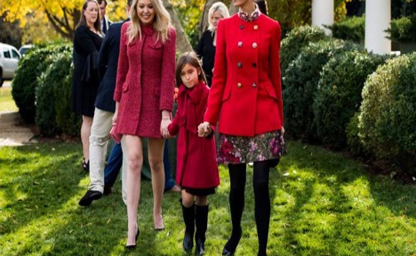 People were distracted by Tiffany Trump's bare legs at White House turkey pardon