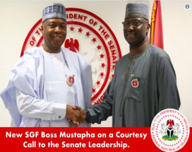 SGF Boss Mustapha Visits Senator Bukola Saraki