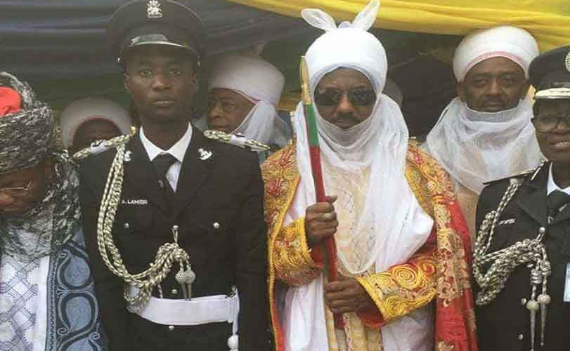 Photos: Emir of Kano's first son, Prince Aminu Sanusi, joins the Nigeria Police Force