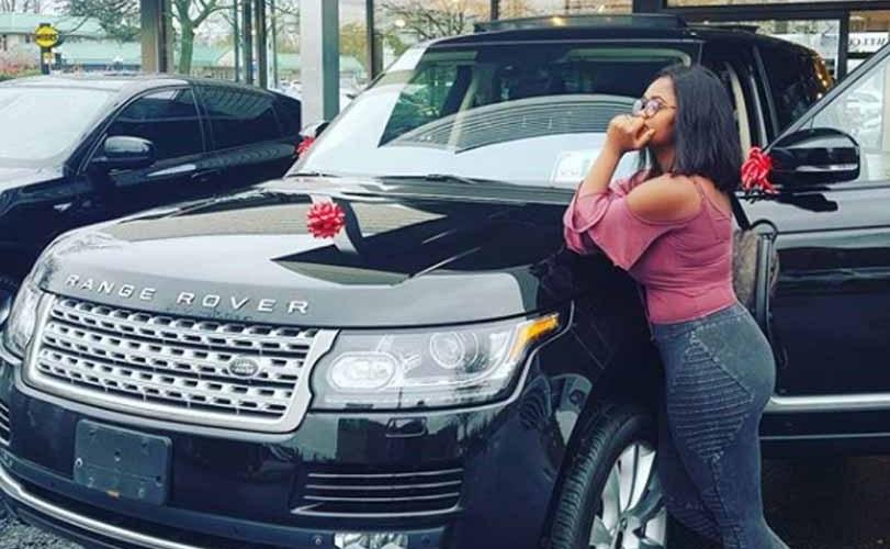Photos: Footballer, Uche Kalu buys his wife a brand new 2016 Range Rover autobiography as an early Christmas present