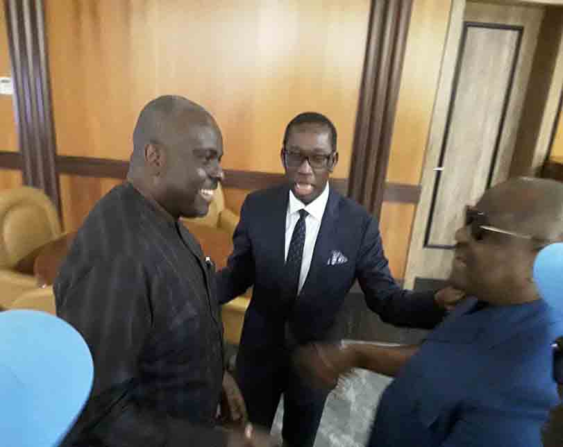 Photos: James Ibori visits Delta state governor, Ifeanyi Okowa, at the state government house