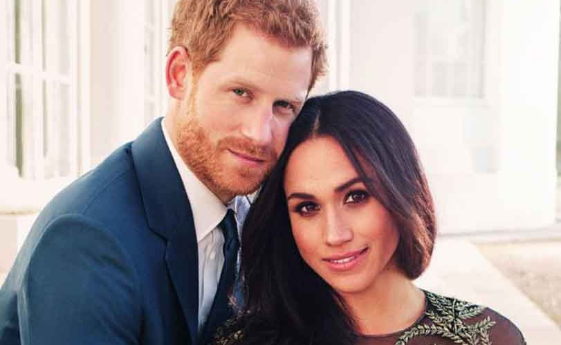Prince Harry and Meghan Markle release official engagement photographs