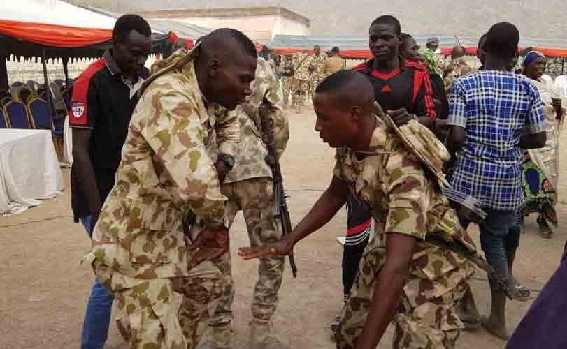 Photos: Troops celebrating Christmas in Gwoza and Buni Yadi
