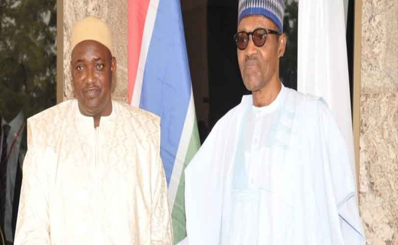 Buhari, Barrow meet in Abuja