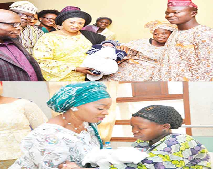 First Lady, Governors' Wives Welcome New Year Babies