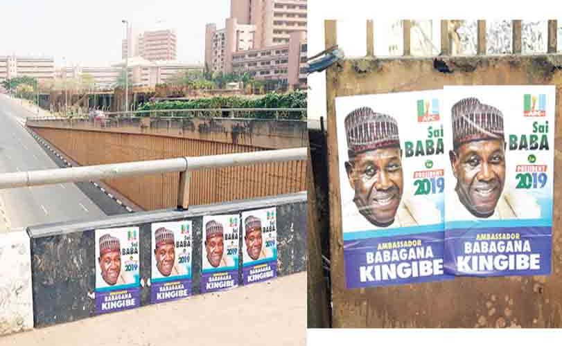 2019 Election: Kingibe's campaign posters flood Abuja, Lagos