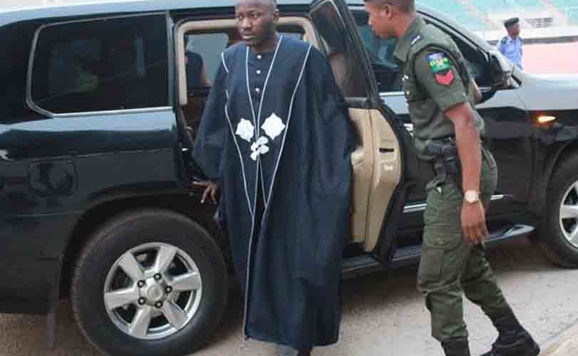 Photos: Apostle Johnson Suleman steps out in a replica of Ebuka's Internet breaking Agbada