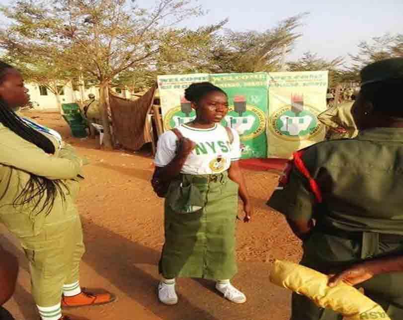 Photos: 'Deeper Life' Corps member spotted wearing skirt at Wamakko orientation camp, Sokoto