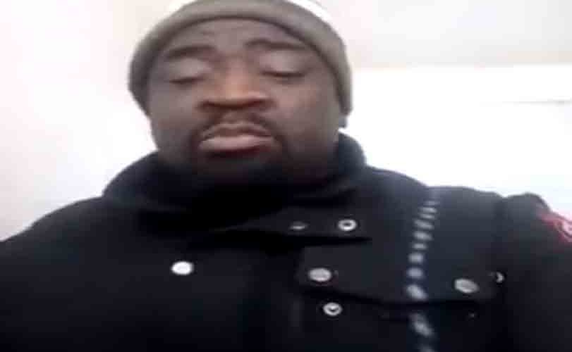 Video: Nigerian actor turned security guard in the US, Femi Ogedengbe blasts Nigerian politician and youths shaming him