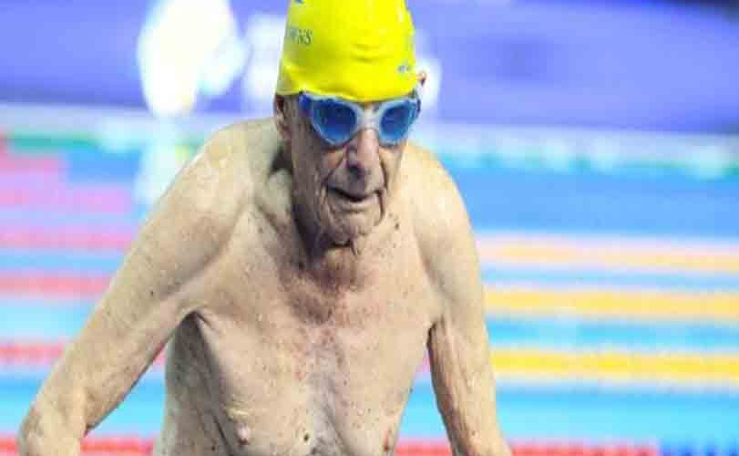 99 year old Swimmer, George Corones breaks world  record in Australia