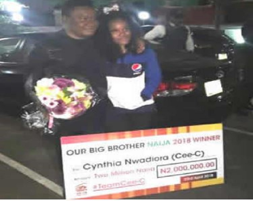 Fans declare Cee-C BBNaija 2018 winner, shower her with N2m