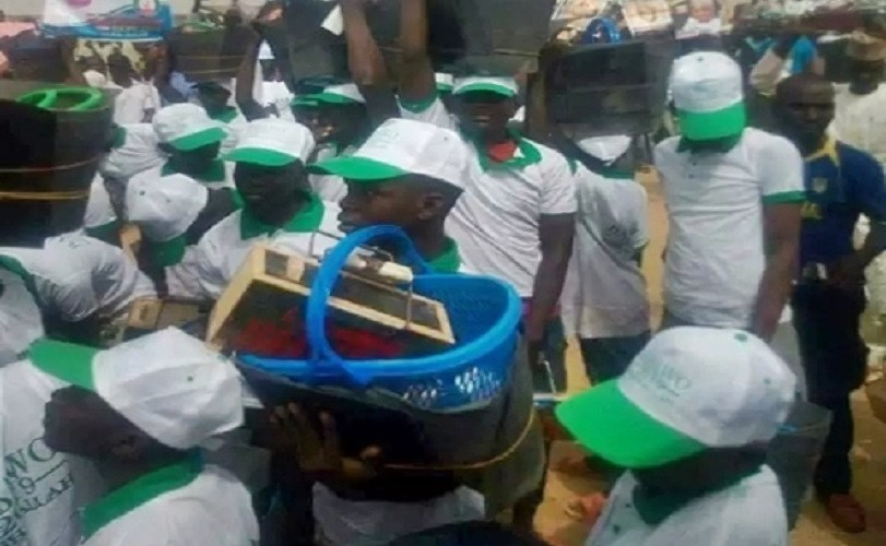 Borno Youths Jubilate as Reps Member Empowers Them With Shoe Shining Kits, Bags Of Oranges (Photos)
