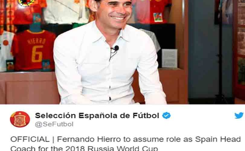 Spain Announces New Coach For World Cup After Sacking Lopetegui