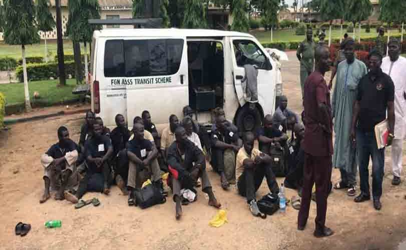 Guns And Dangerous Weapons Recovered From 20 Passengers Along Nasarawa – Abuja Road (Photos)