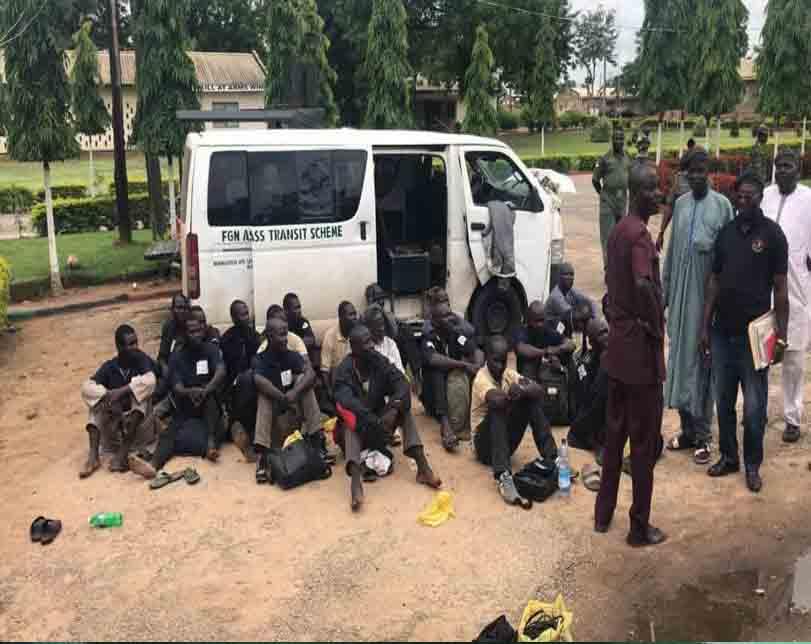 Guns And Dangerous Weapons Recovered From 20 Passengers Along Nasarawa – Abuja Road (Photos)