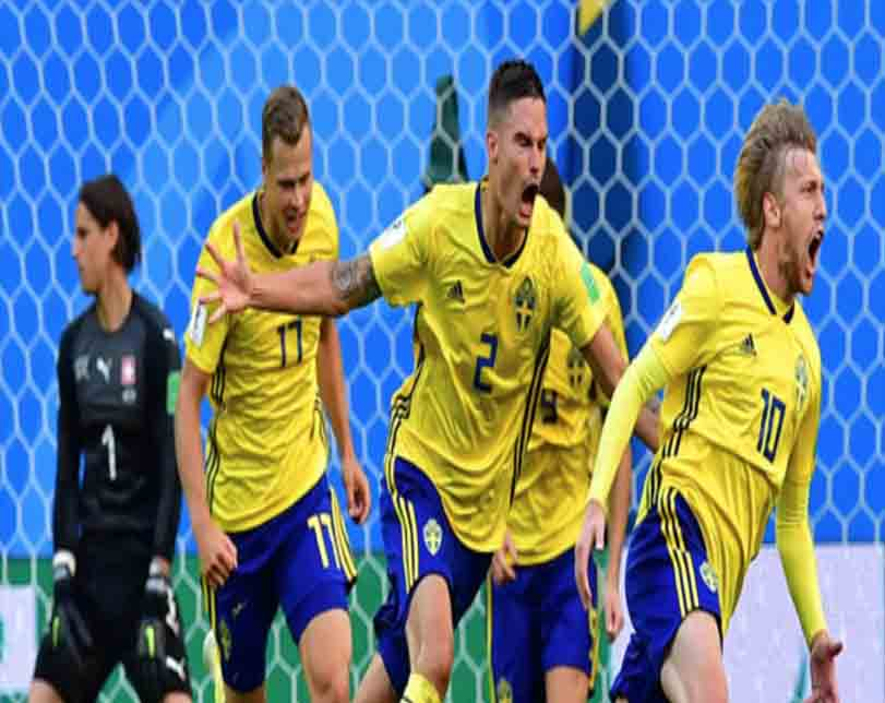 Sweden beat Switzerland 1-0 to reach quarter-finals