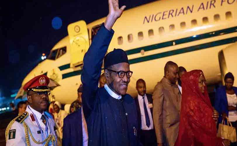 President Buhari Returns From China