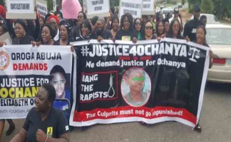 #JusticeForOchanya: Protesters Storm Justice Ministry Over Death Of Girl R-ped By Father & Son