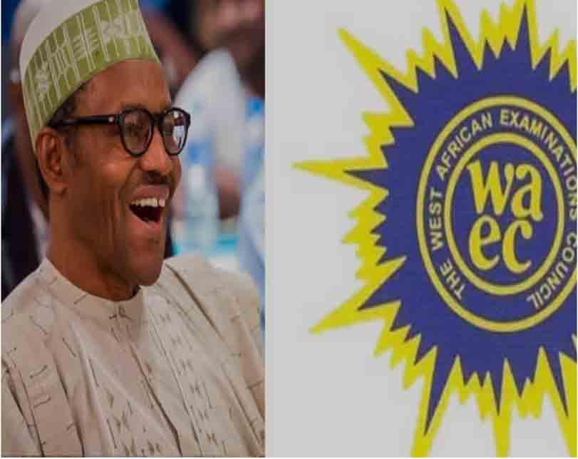 WAEC presents certificate to Buhari