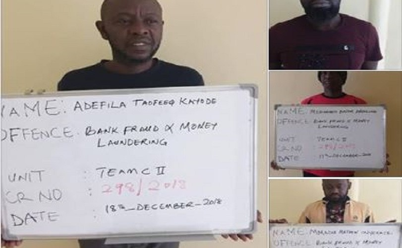 Five Suspected Scammers Involved In N466million Bank Fraud Nabbed By EFCC