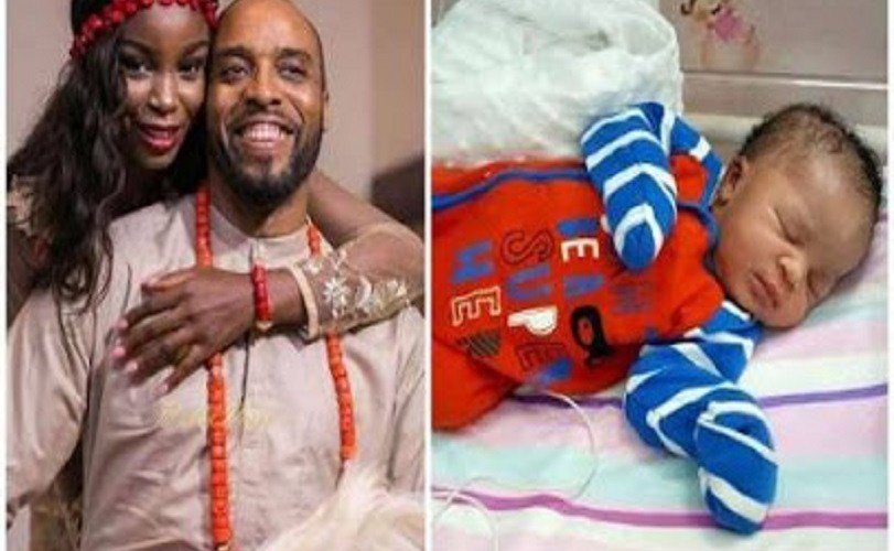 Actor Kalu Ikeagwu & Wife Welcome First Child (Photo)