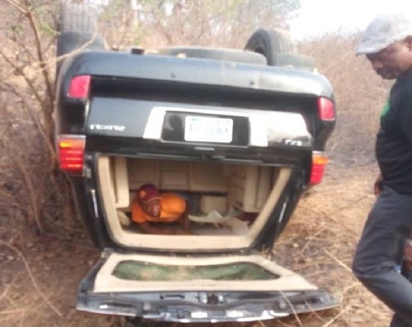 Senator Escapes Tragic Death In Auto Crash Along Abuja-Lokoja Road (Photos)