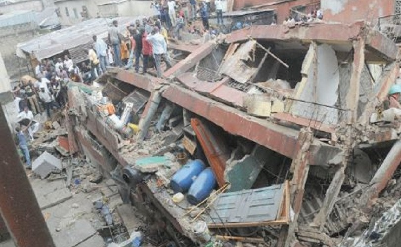 12 injured as 3-storey building collapses in Lagos