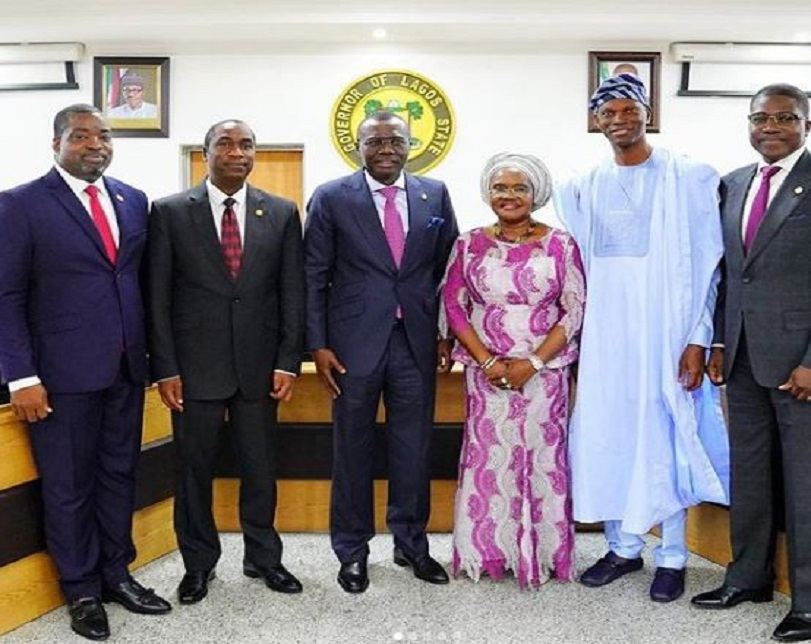 Lagos State Governor, Babajide Sanwo-Olu swears in six newly-appointed Permanent Secretaries