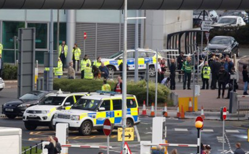 Bomb scare in Manchester Airport UK