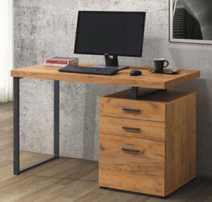 536-3 康迪仕摩登工業風書桌(黃金橡木紋) [536-3 康迪仕摩登工業風 ...