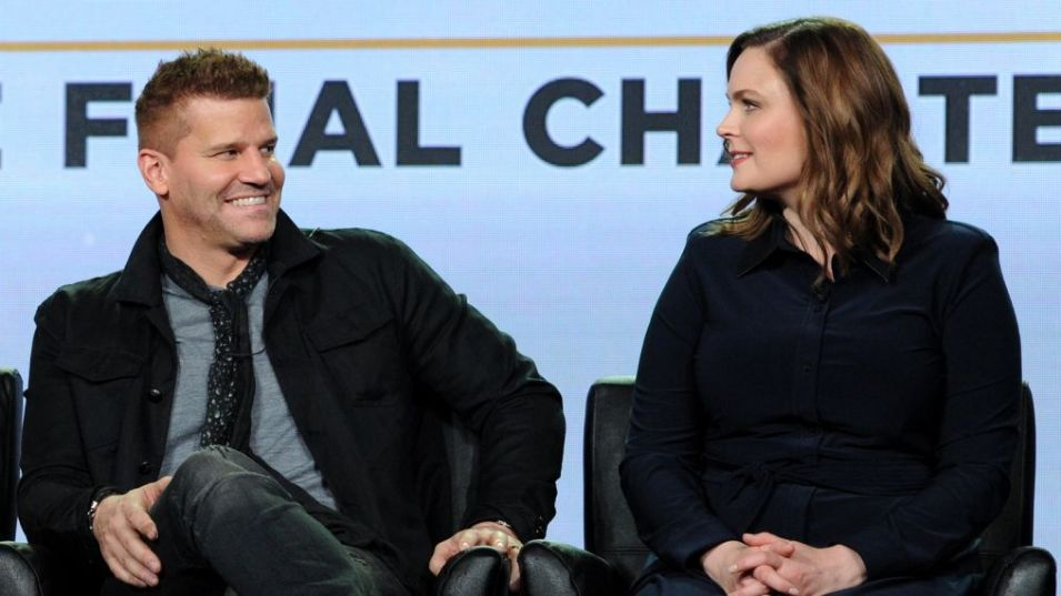 Emily Deschanel e David Boreanaz al panel di Bones dei Winter TCA 2017 della Fox
