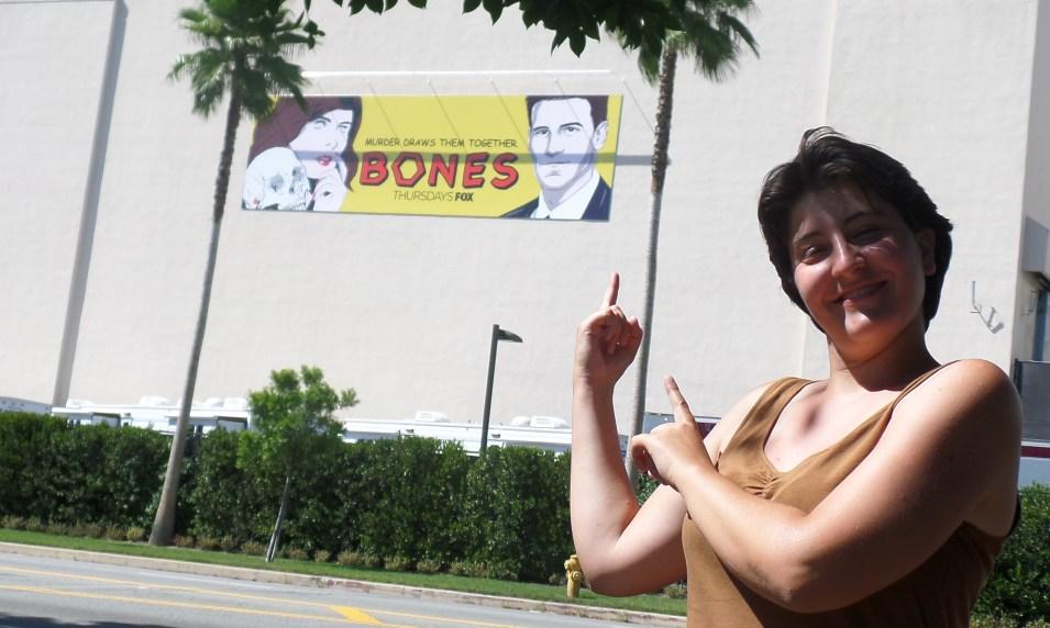 Beatrice Belli lavora in Bones agli studi della Fox a Los Angeles