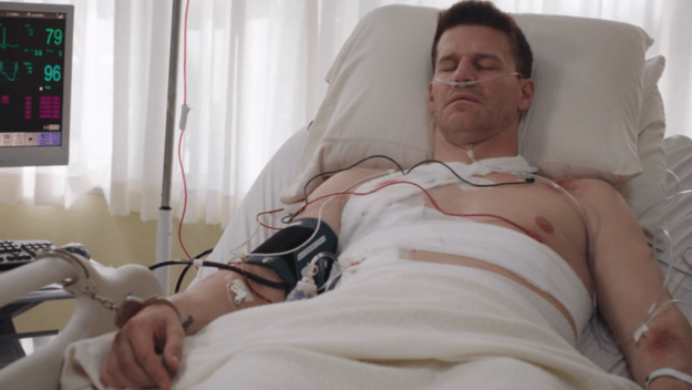 Booth in un letto di ospedale - Bones 9x24