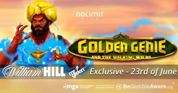 GoldenGenie-exclusive_CLIENT-1 Nolimit City & William Hill group premier, Golden Genie & The Walking Wilds