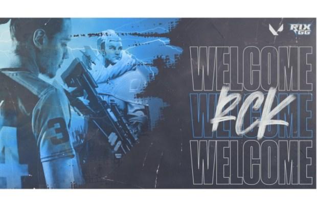 "Rix.GG signs Richard ""rCk"" Kanerva to VALORANT roster"