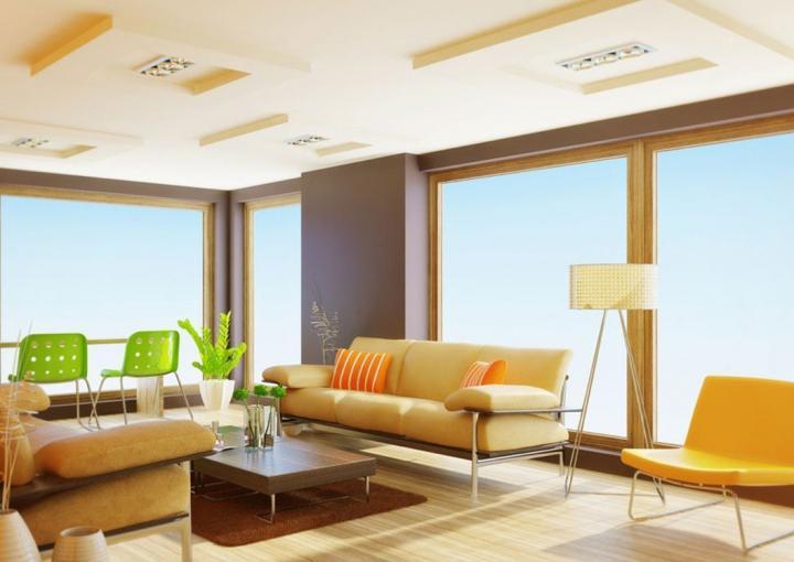 Color claro en el techo para ganar luminosidad