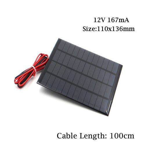 12V 18V mini Solar Panel System DIY For Battery Cell Phone Charge with Wire