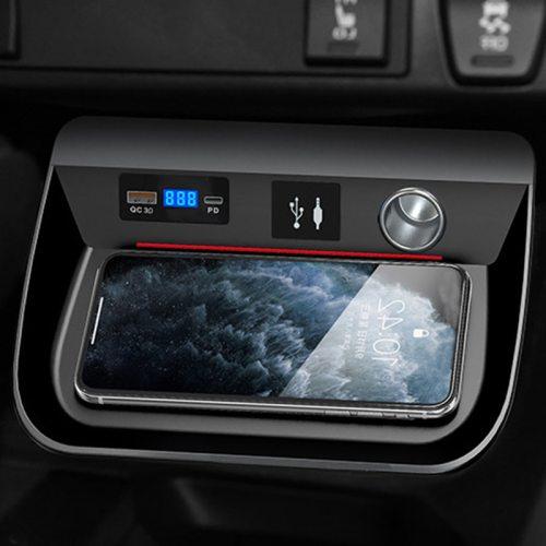 15W QI Wireless Car Smart Phone Charge Plate for Toyota RAV4 RAV 4 2019 2020