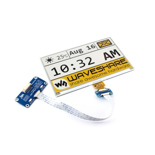 7.5 inch Ink Screen Electronic Paper Yellow Black and White Color SPI Interface