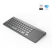 2.4GHz Wireless mini Size Thin Keyboard with Number Keypad Touchpad Mouse