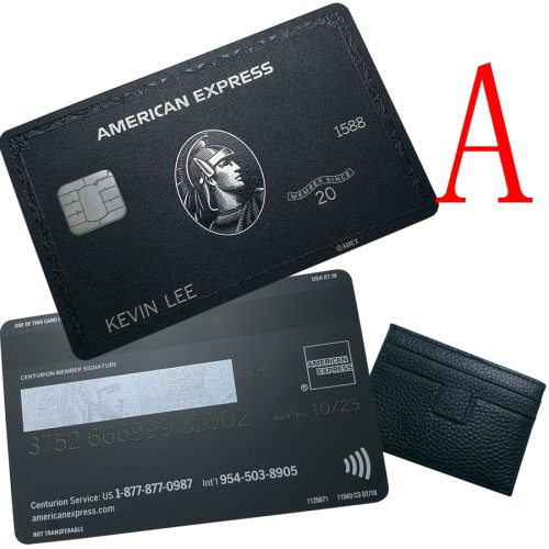 American Express The Centurion Black Card J.P. Morgan Silver Card with Box Customize Card Information
