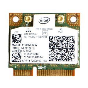 Half PCI-E Intel Centrino Wireless-N 1000 802.11 b/g/n 112BNHMW mini Wifi Card