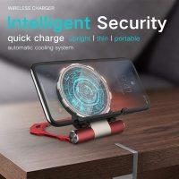 10W Iron Man Design Foldable Qi Wireless Charger Fast Wireless Charging Pad