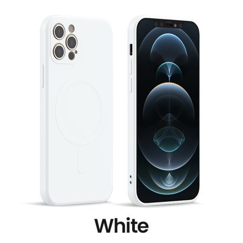 Qi Magnetic Liquid Silicone Case Shockproof Cover For iPhone 12 Pro Max Mini
