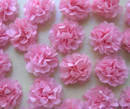DIY Tiny Tissue Paper Flowers    i do  it yourself     tissue flowers zakka life