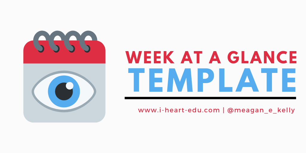 picture relating to Week at a Glance Template named 7 days at a Search Template i ❤ edu