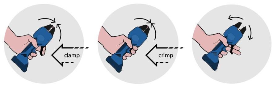 Die Klauke micro lässt sich intuitiv bedienen – schnell und effizient. (Quelle: Gustav Klauke GmbH)