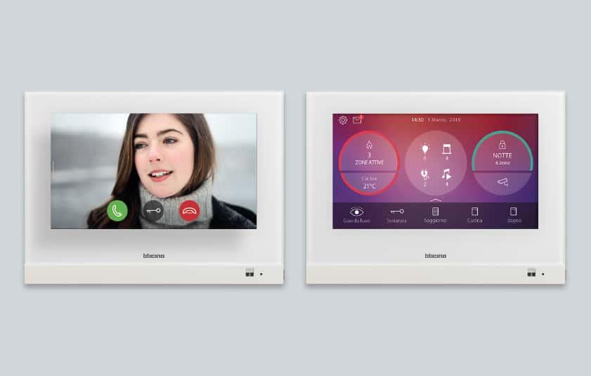 Ab April gibt es den 7'' Hometouch mit kapazitiver Touch-Oberfläche auch in der Ausführung Weiß. (Bild: Bticino)
